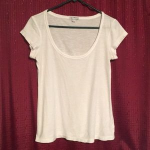 James Perse Deep Scoop Neck Tee sz 3